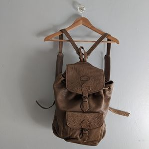 Vintage Overland Outfitters Brown Leather Backpack